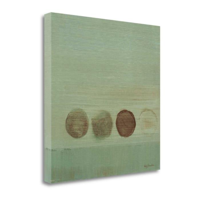 Aqua Drops I By Karen Lorena Parker 22 x 22 Gallery Wrap Canvas