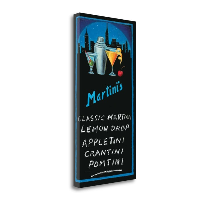 Martinis By Will Rafuse 14 x 28 Gallery Wrap Canvas