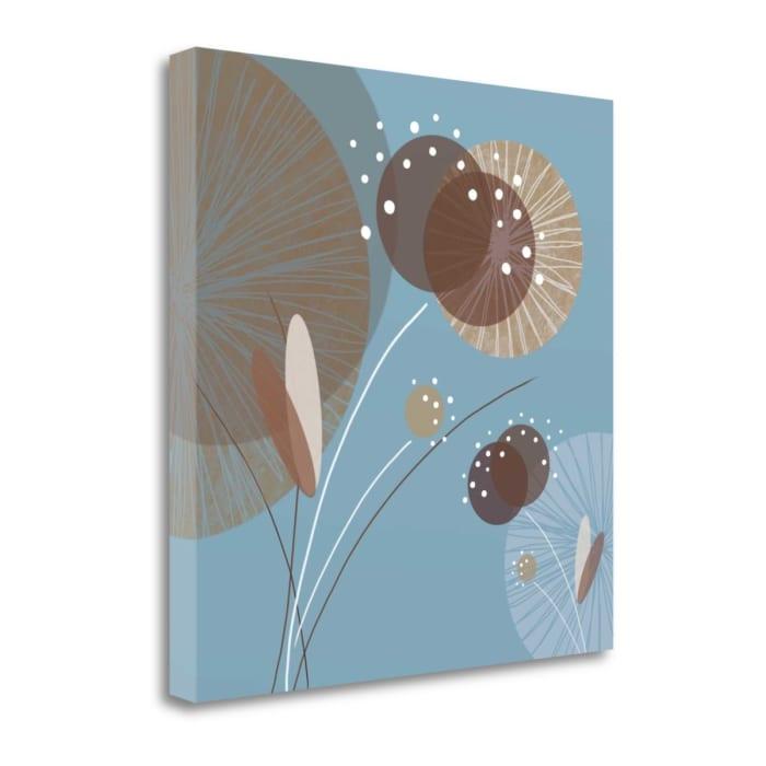 Blue Breeze I By Christina Mitchell 22 x 22 Gallery Wrap Canvas