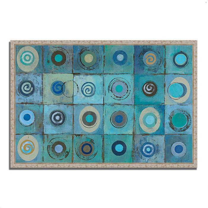 Underwater Mosaic by Silvia Vassileva 32 x 22 Gallery Wrap Canvas