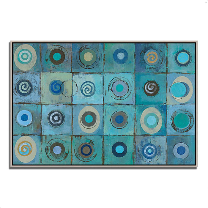 Underwater Mosaic by Silvia Vassileva 47 x 32 Gallery Wrap Canvas