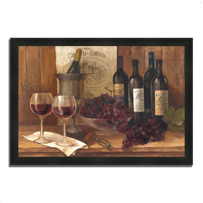 Vintage Wine by Albena Hristova 33  x 23 Framed Painting Print