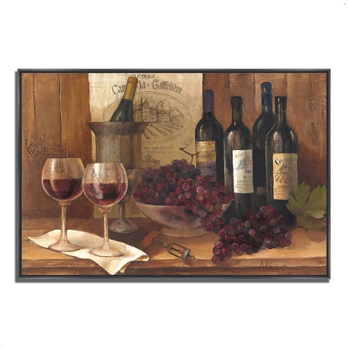 Vintage Wine by Albena Hristova 47 x 32 Gallery Wrap Canvas