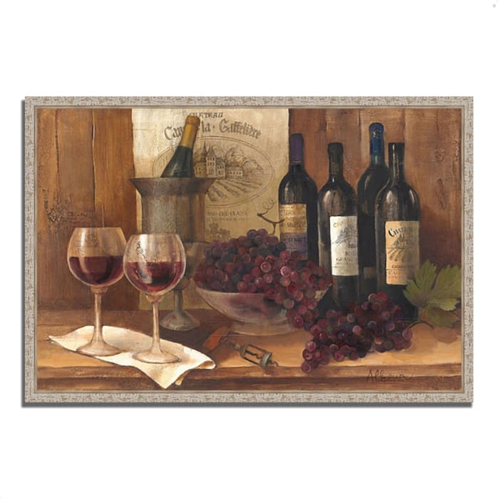 Vintage Wine by Albena Hristova 32 x 22 Gallery Wrap Canvas