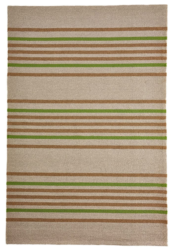 Stripe Indoor/Outdoor Rug Green 5' x 7'5