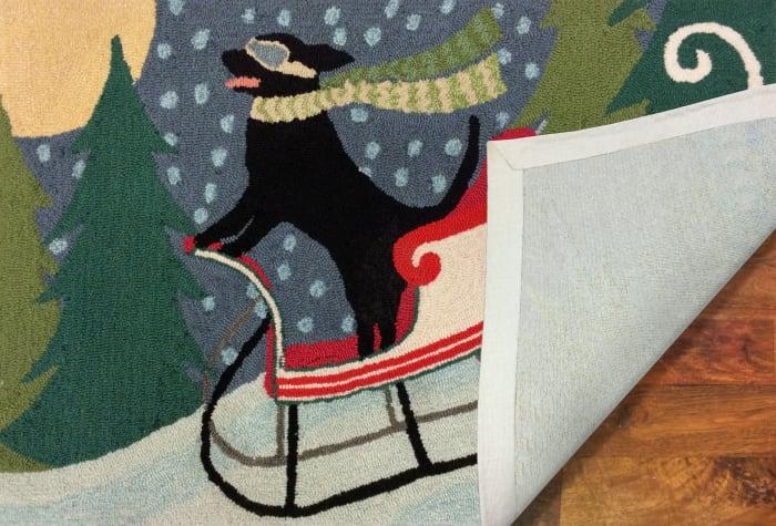 Sled Dog Indoor/Outdoor Rug Multi 4' x 2'5