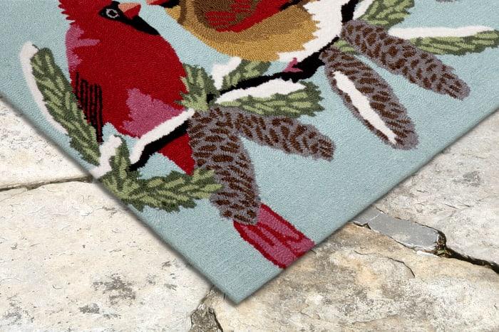 Cardinals Indoor/Outdoor Rug Sky 4' x 2'5