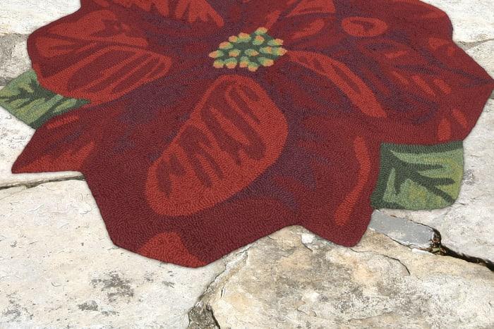 Poinsettia Indoor/Outdoor Rug Red 20