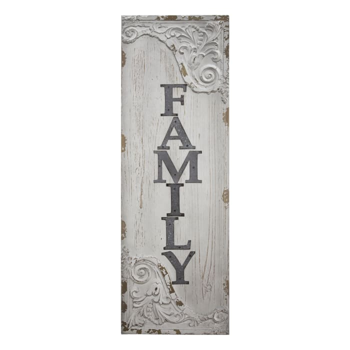Family Wood and Metal Vintage Sign