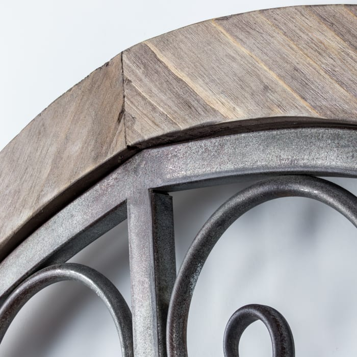 Rustic Wood and Metal Arched Wall Decor