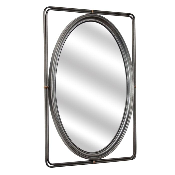 Farrow Rectangular Metal Hanging Wall Vanity Mirror
