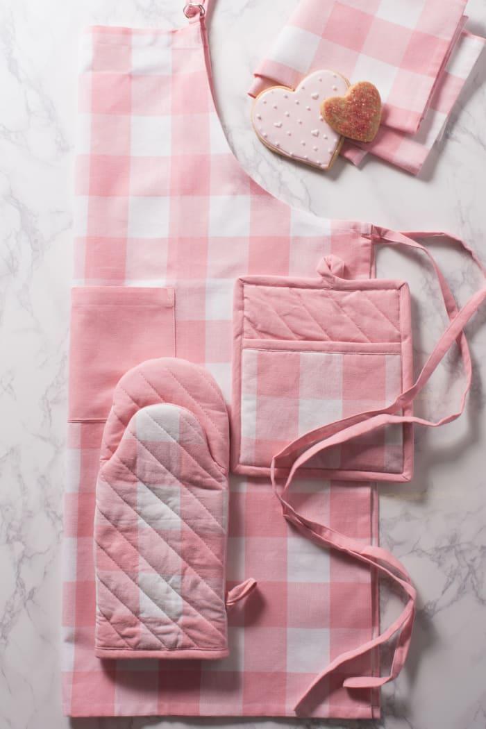Pink Peony Picnic Dishtowel Set of 2