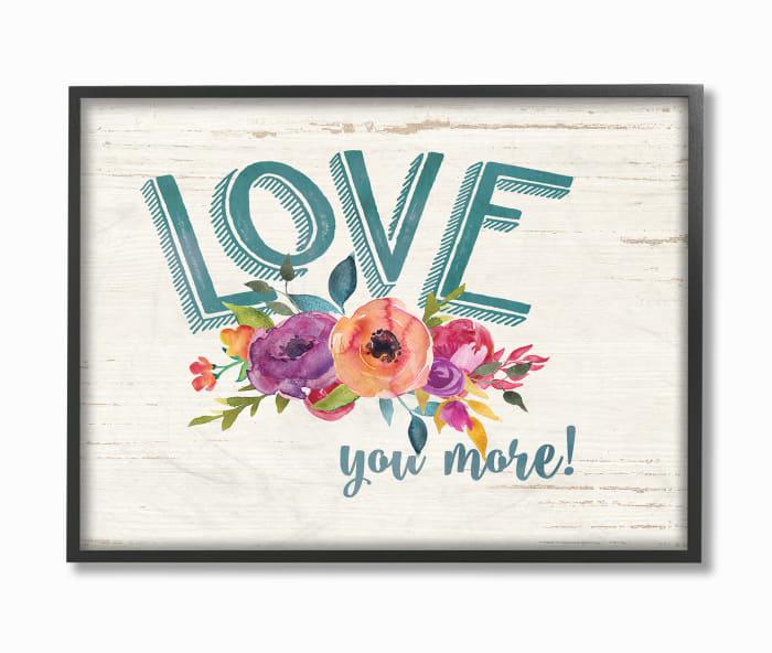 More Floral Love Framed Art, 16 x 1.5 x 20