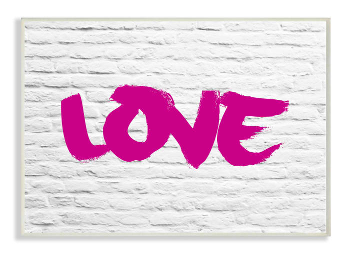 Pink LOVE 13x19 Wall Plaque