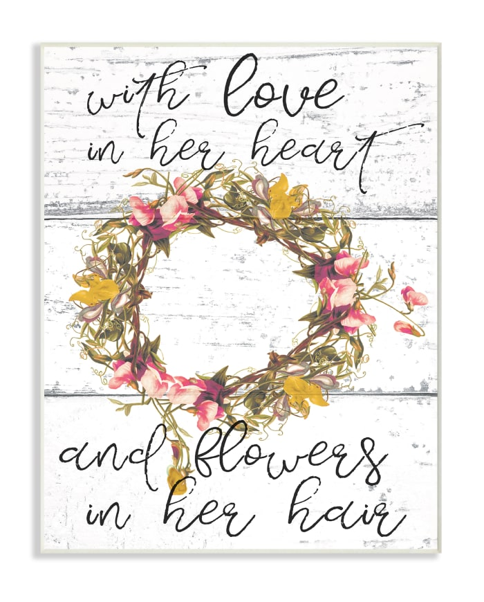 Flower Crown 13x19 Wall Plaque