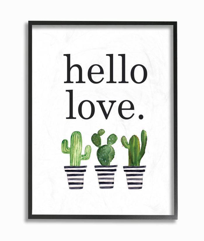 Cacti Love 16x20 Framed Wall Art