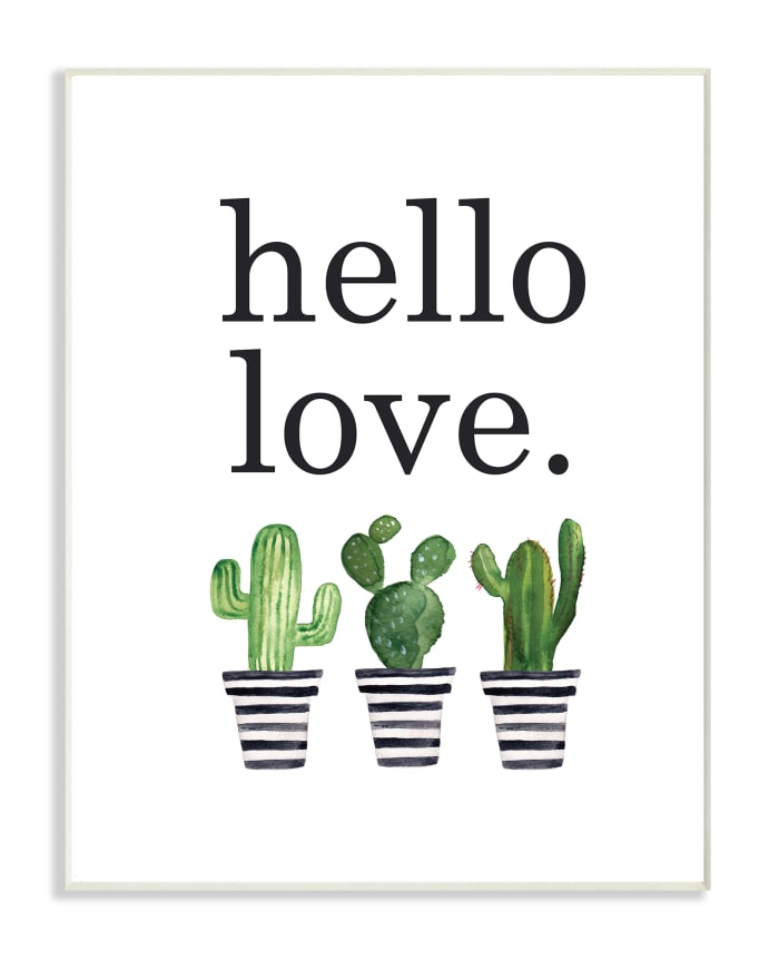 Cacti Love 13x19 Wall Plaque