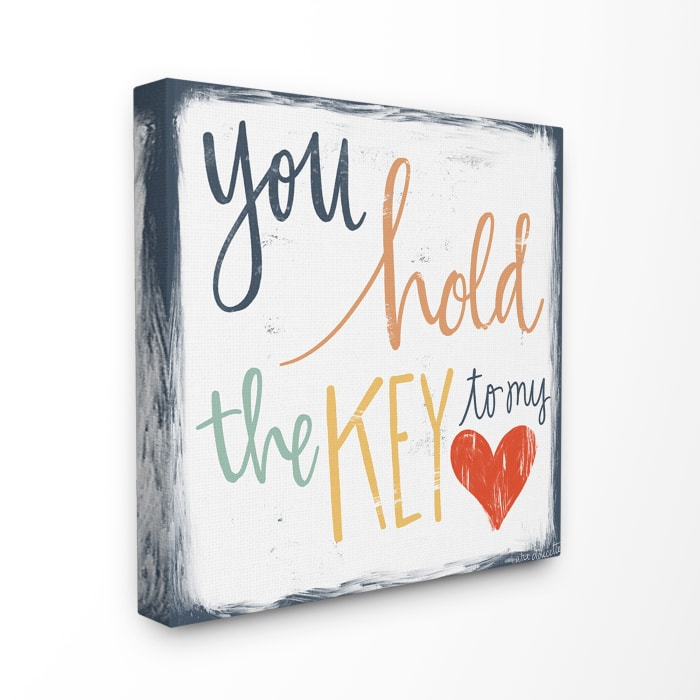 You Hold The Key Canvas Art 30 x 1.5 x 30