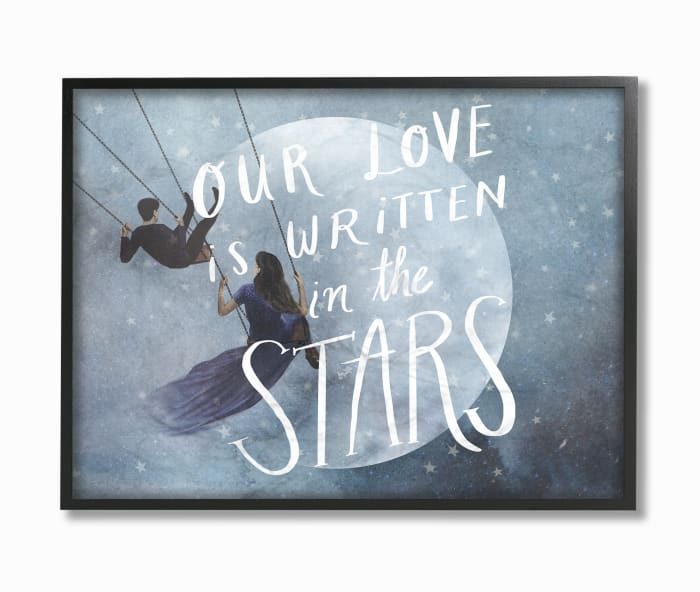Written in the Stars Framed Art 16 x 1.5 x 20