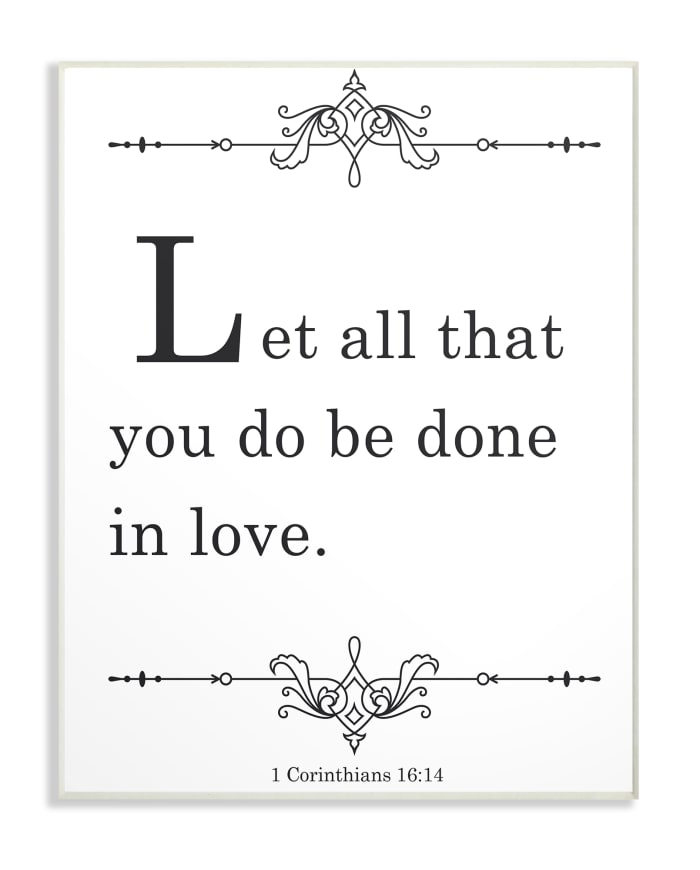 Done In Love Plaque Art 10 x 0.5 x 15