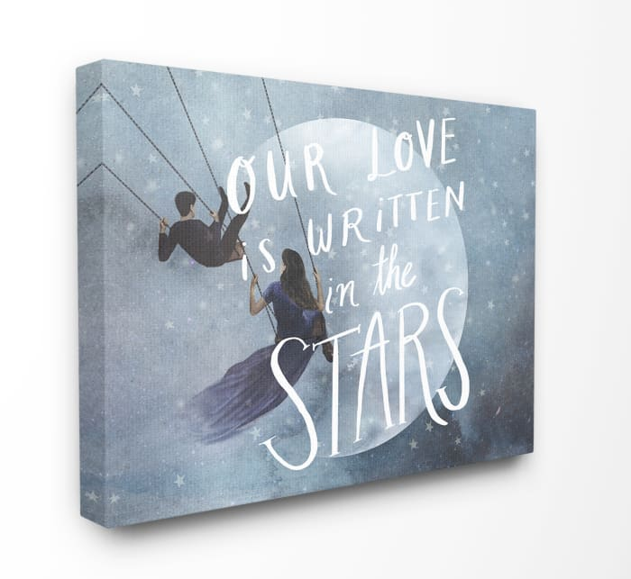 Written in the Stars Canvas Art 30 x 1.5 x 40