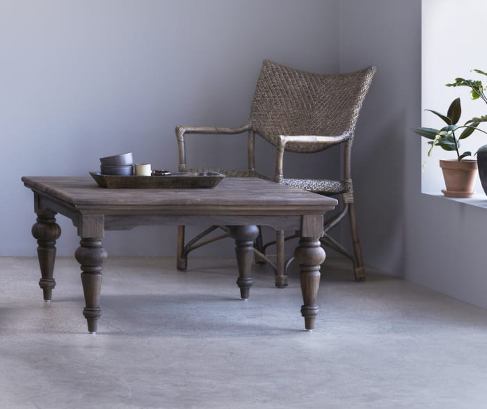 Square coffee table 39x39 Natural