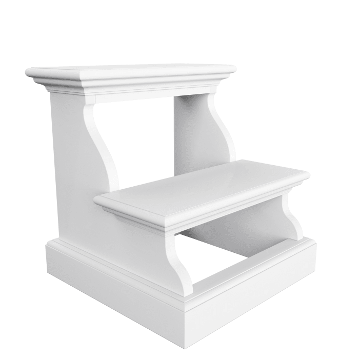 White Bed Step