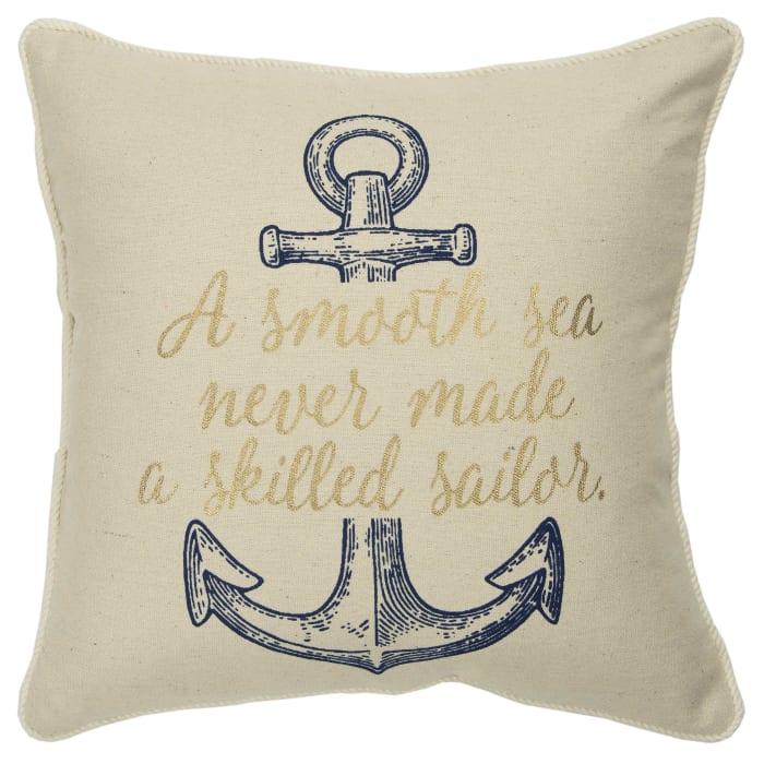 A Smooth Sea Never Made a Smooth Sailor Square Pillow Cover