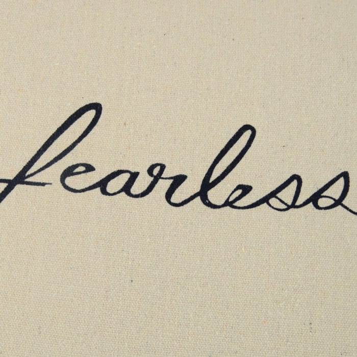 Fearless Script Square Pillow Cover
