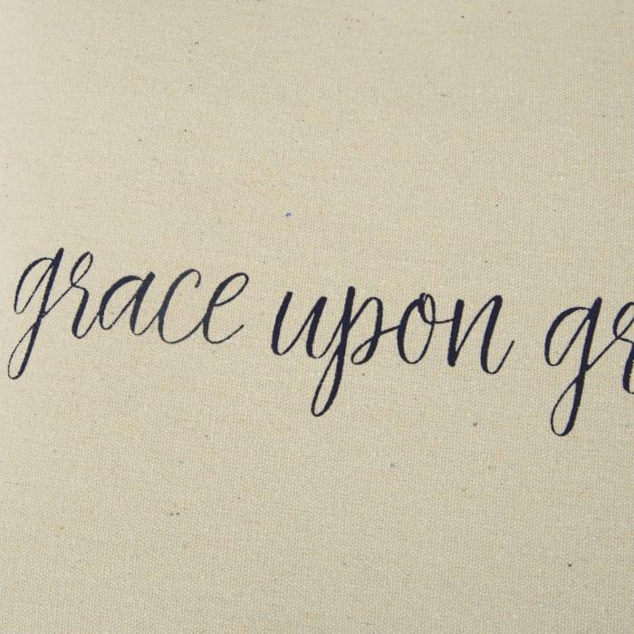 Grace Upon Grace Square Pillow Cover