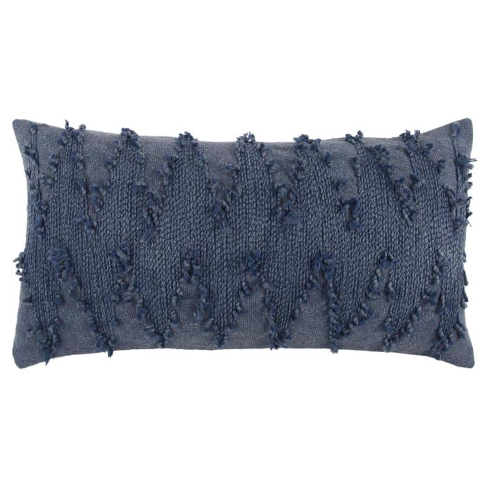 Deconstructed Blue Chevron Lumbar Pillow Cover