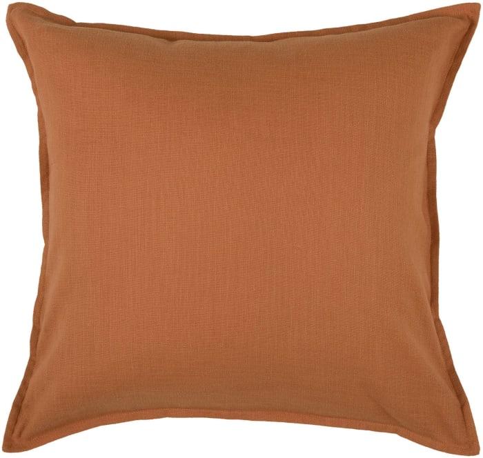 Orange Cotton Square Pillow Cover