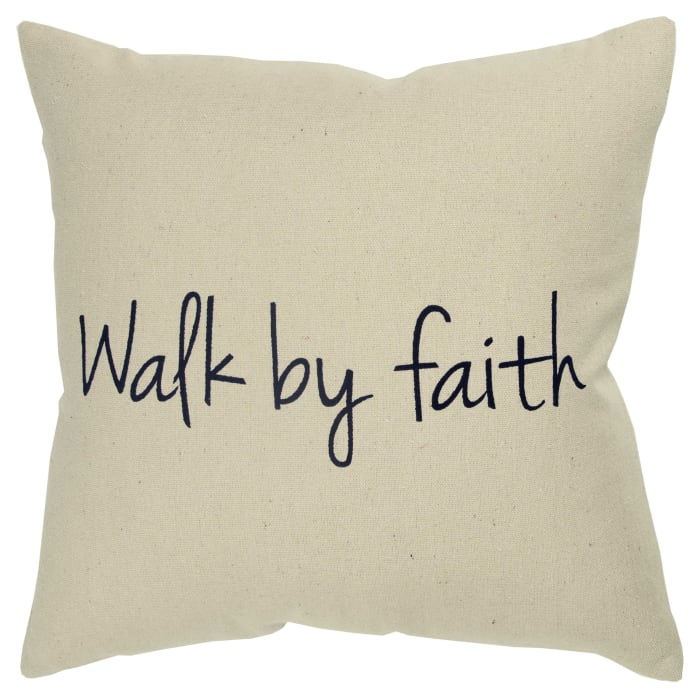 Walk by Faith Square Pillow