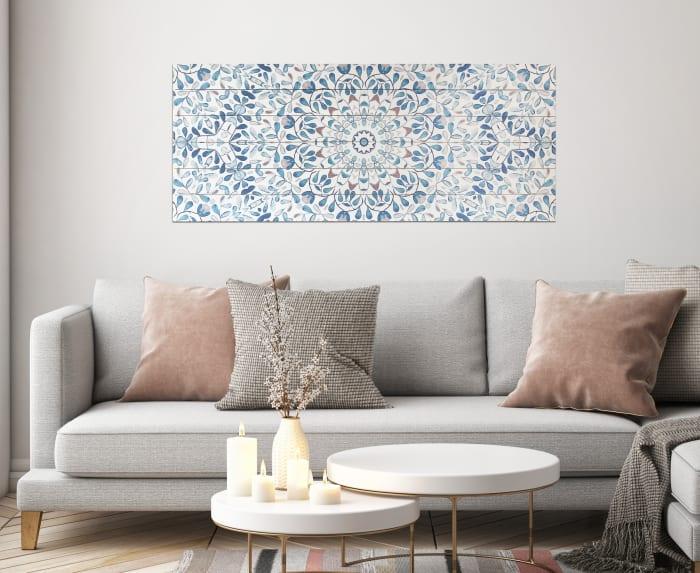 Ornate Print on Wood