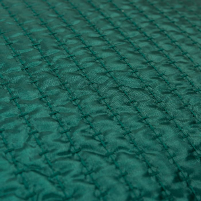 Solid 100% Polyester Deep Green Polyfilled Pillow