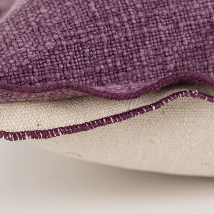 Solid 100% Cotton Purple Polyfilled Pillow
