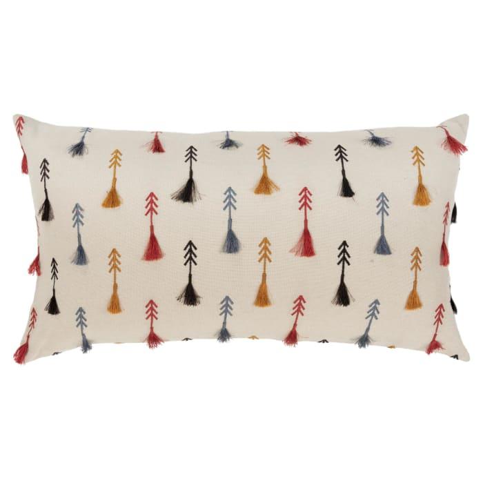 Arrow Rust 100% Cotton Polyfilled Lumbar Pillow
