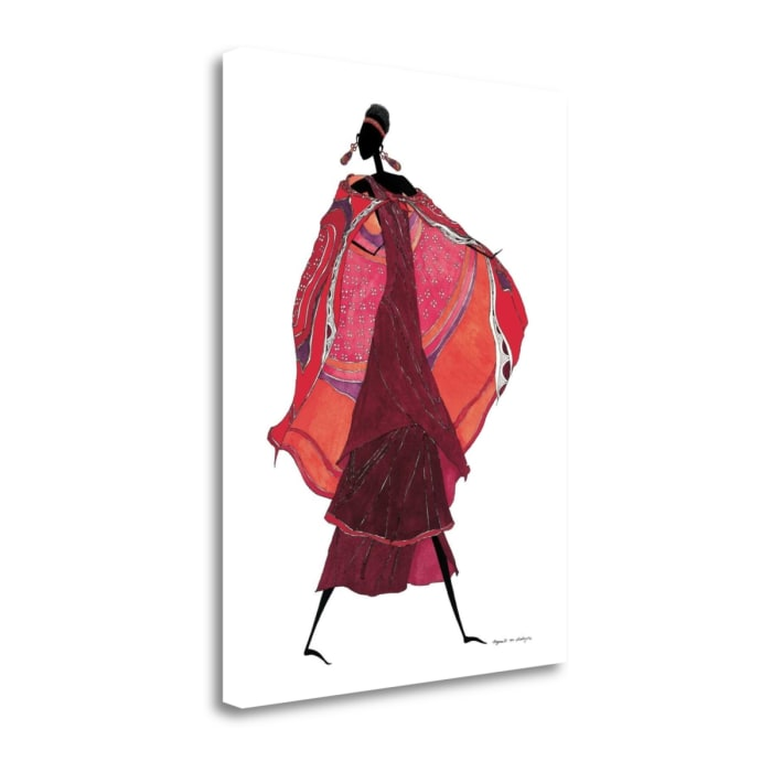 Giclee on Gallery Wrap Canvas 18 In. x 24 In. Samburu In Beaded Earrings By Augusta Asberry Multi Color