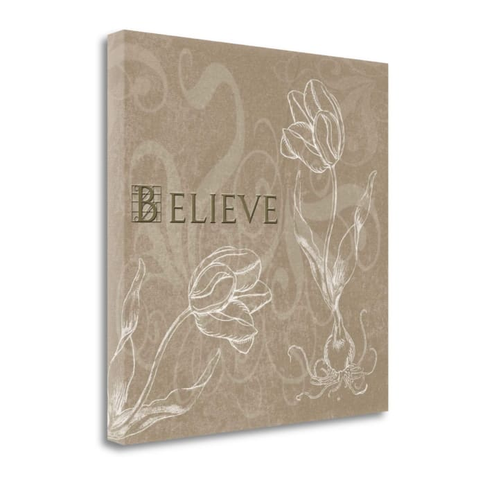 Fine Art Giclee Print on Gallery Wrap Canvas 22 In. x 22 In. Believe By Jan Tanner Multi Color