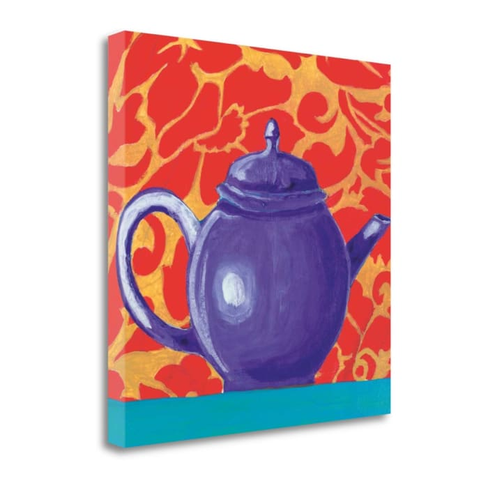 Fine Art Giclee Print on Gallery Wrap Canvas 20 In. x 20 In. Tempest In A Teapot I By Liz Jardine Multi Color