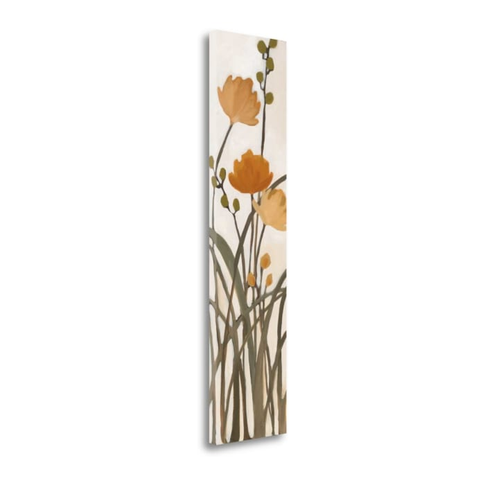 Fine Art Giclee Print on Gallery Wrap Canvas 12 In. x 47 In. Meadows I By Maria Multi Color