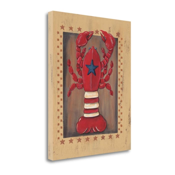 Fine Art Giclee Print on Gallery Wrap Canvas 16 In. x 20 In. Lobster By Jo Moulton Multi Color