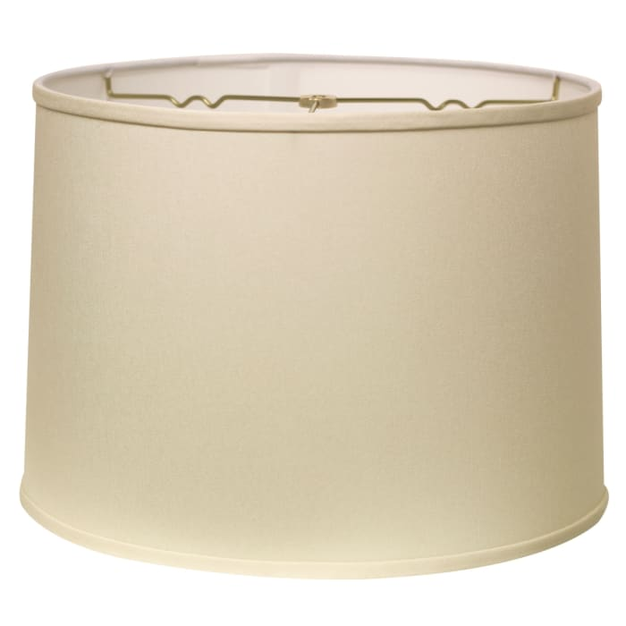 Slant Retro Drum Hardback Lampshade with Washer Fitter, Egg