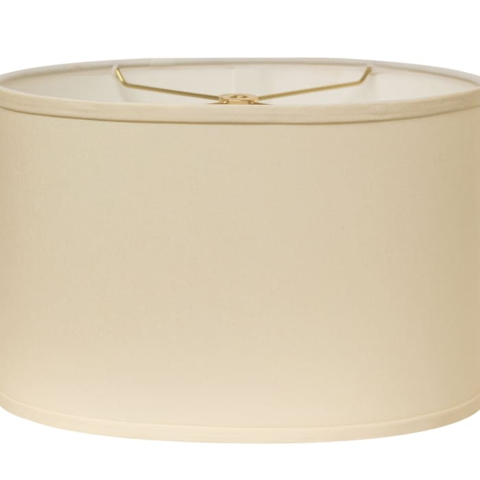 Slant Retro Oval Hardback Lampshade with Washer Fitter, Egg