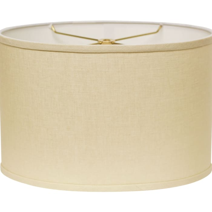 Slant Retro Oval Hardback Lampshade with Washer Fitter, Beige