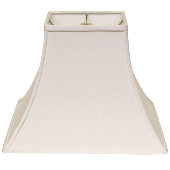 Slant Square Bell Hardback Lampshade with Washer Fitter, White