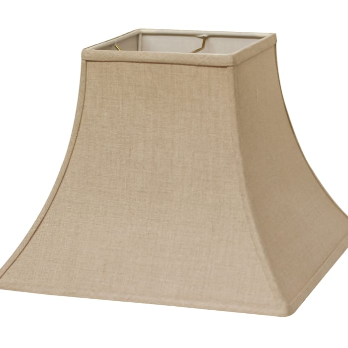 Slant Square Bell Hardback Lampshade with Washer Fitter, Heather