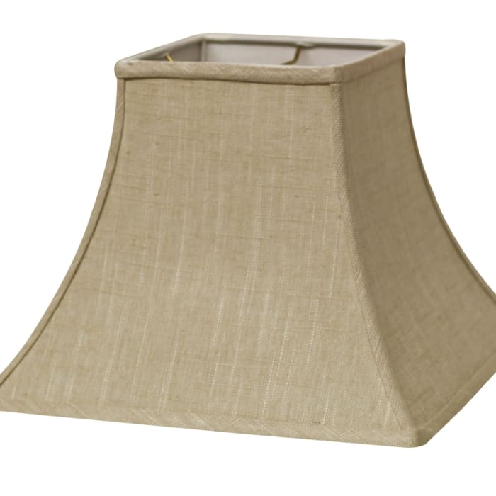 Slant Square Bell Hardback Lampshade with Washer Fitter, Stonewash