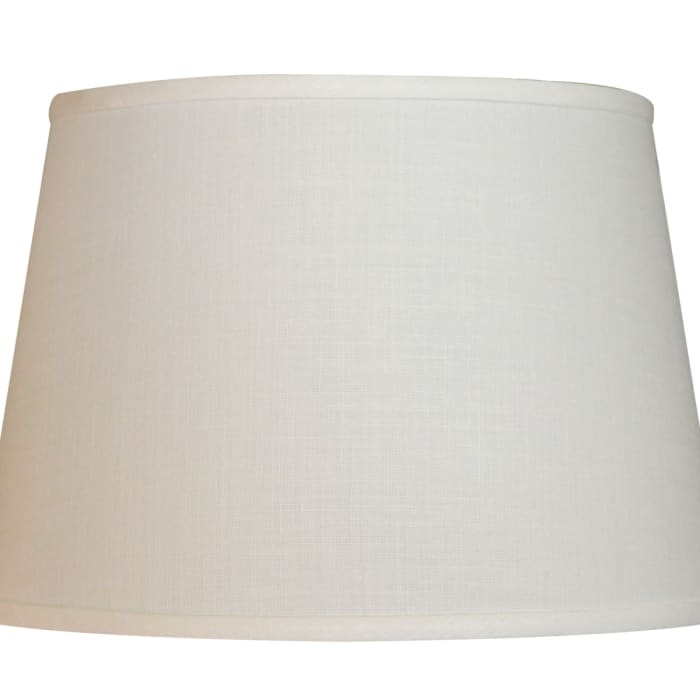 Slant Modified Empire Hardback Lampshade with Washer Fitter, White