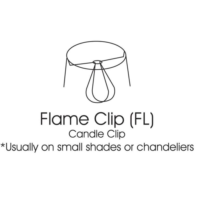 Slant Empire Chandelier Lampshade with Flame Clip, Antique Parchment (Set of 6)